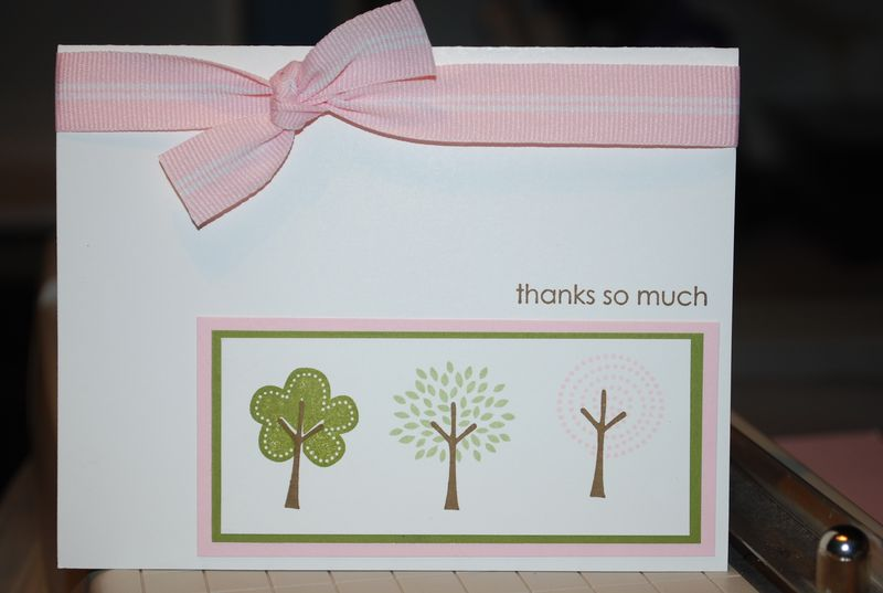 Trendy trees card